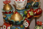 wunderschöne Keramik: Gartenstecker, Salzstreuer, Windlichter...von Gisela Fischer (Ingolstadt)